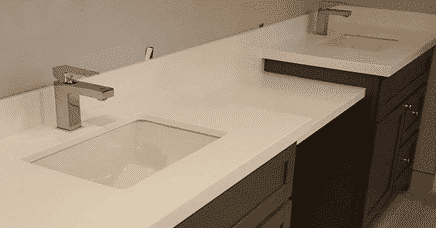 quartz bathroom countertops